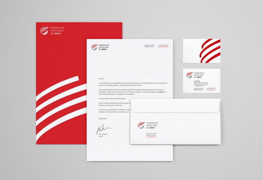 Papelería branding FCGolf