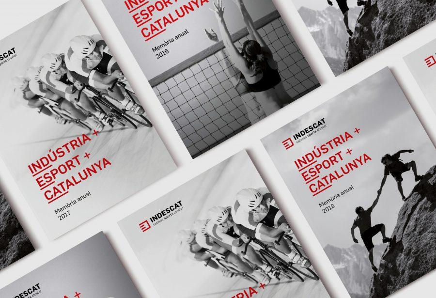 Portada memoria editorial anual de INDESCAT Clúster catalán de la indústria del deporte