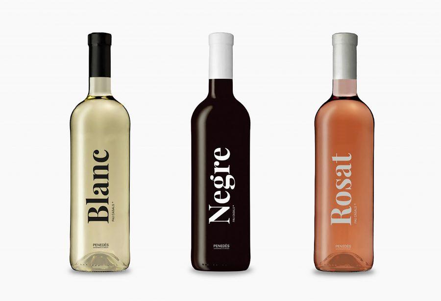 Vins Pau Casals: Blanc, Rosat, Negre