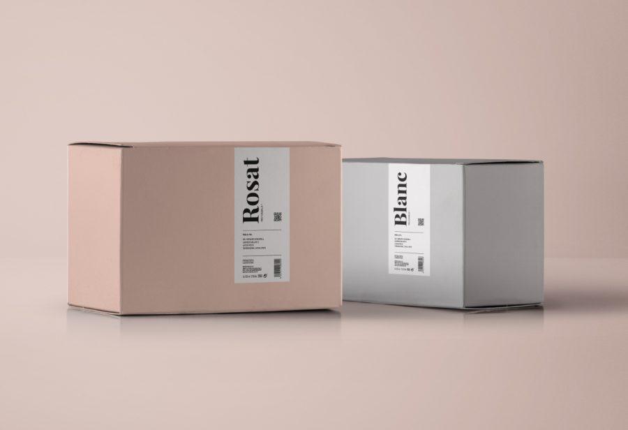 Packaging para el vino Rosat y Blanc