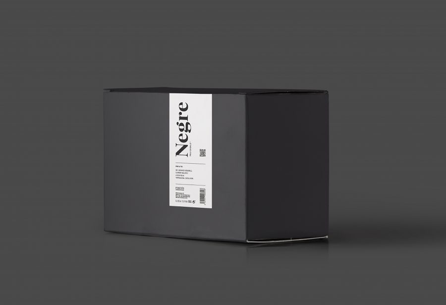 Packaging botellas vino negre