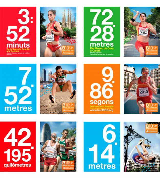Diseño gráfico B10 Campeonatos Europeos de Atletismo