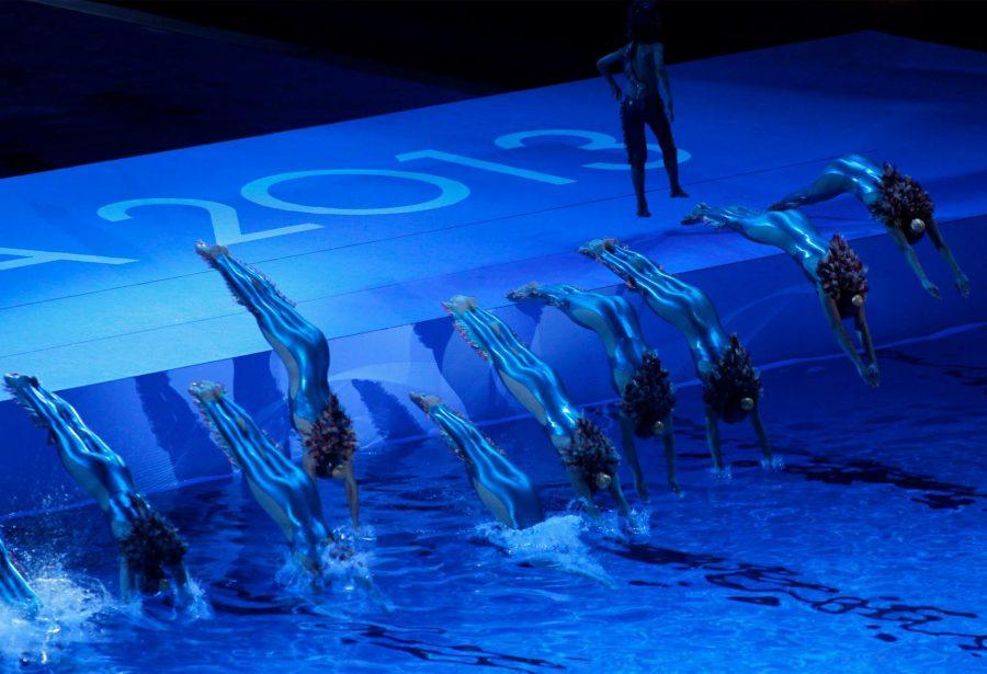 Nadadoras durante el 15th FINA Campeonatos del Mundo de Natación