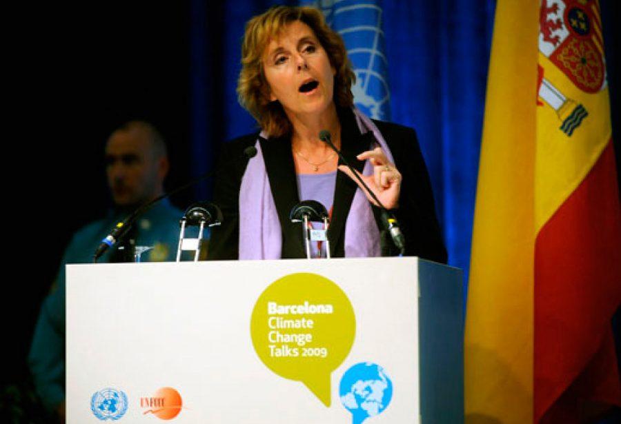 Fotografía durante las conferencias sobre el cambio climático.