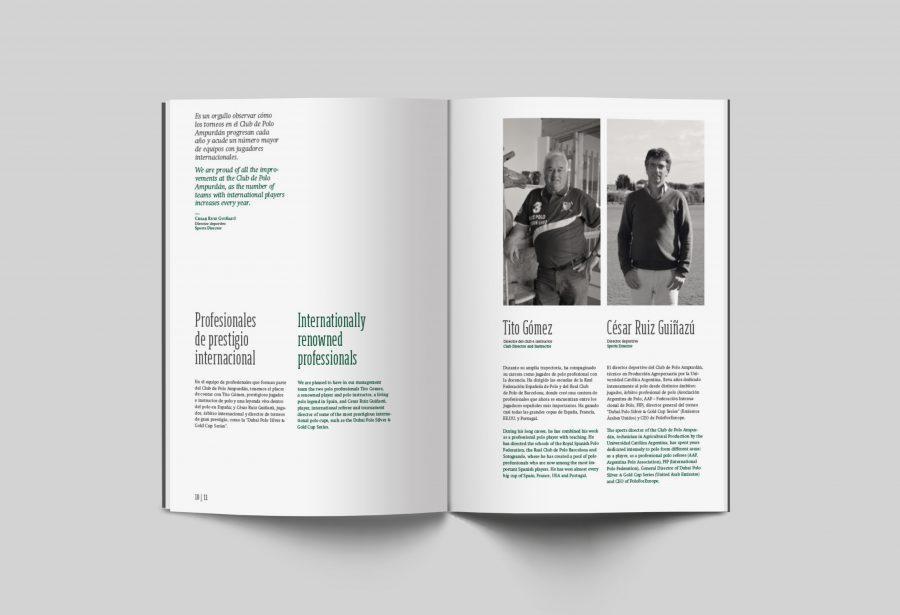 Diseño editorial del prestige book del Clup de Polo Ampurdán