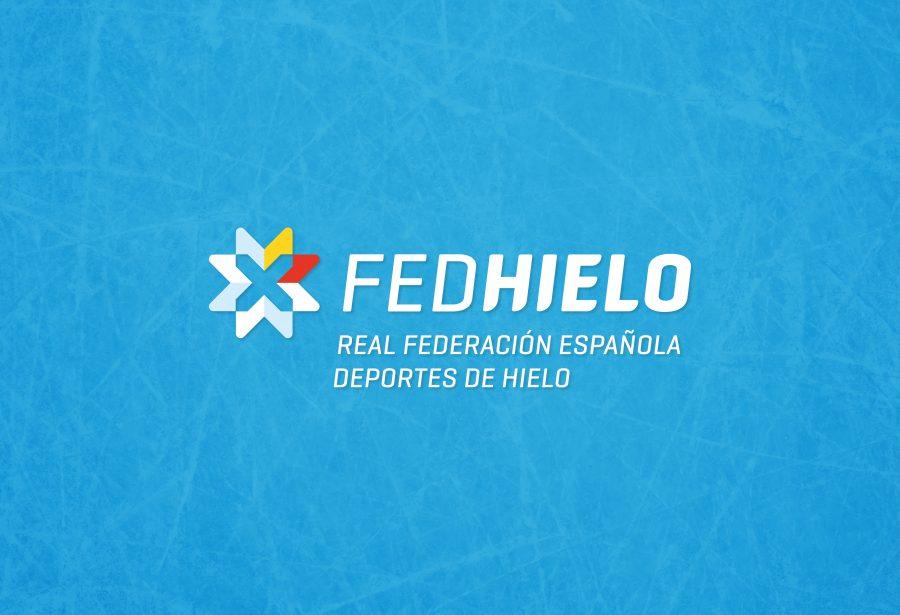 Logotipo formato horizontal FEDHielo Real Federación Española de Deportes de Hielo