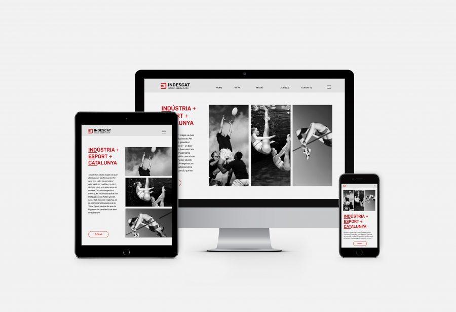 imagen corporativa Clúster catalán de la indústria del deporte. aplicada a dispositivos digitales