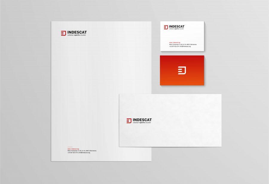 Branding con el logotipo de INDESCAT