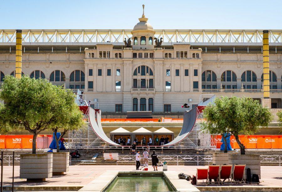 Half-pipe de la competición skateboarding en el Palau Sant Jordi, Barcelona 2019