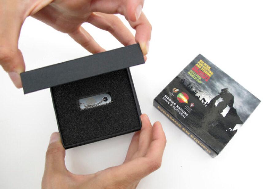 Packaging contenedor de un pen-drive