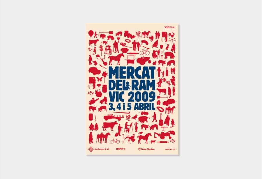 Diseño gráfico del póster del Mercat del Ram de Vic