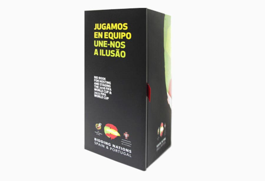 Packaging de los libros de la candidatura de la copa mundial de fútbol