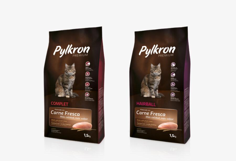 Packaging de los productos Pylkron Premium para gatos