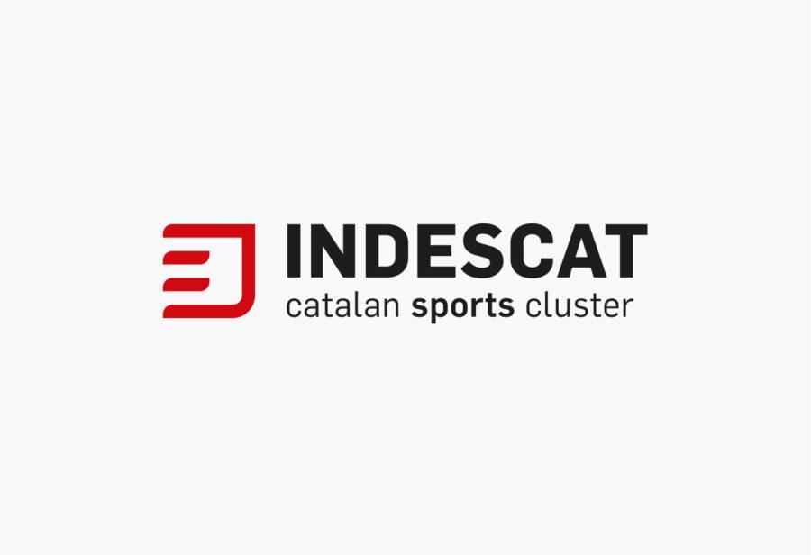 Logotipo horizontal de INDESCAT Clúster catalán de la indústria del deporte